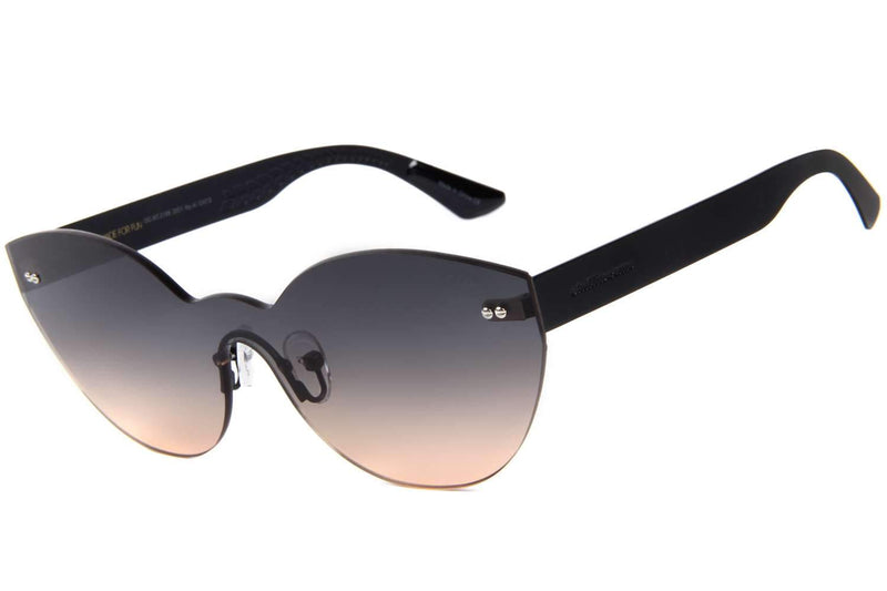 Play Cat Eye Sunglasses Gradient Stainless Steel