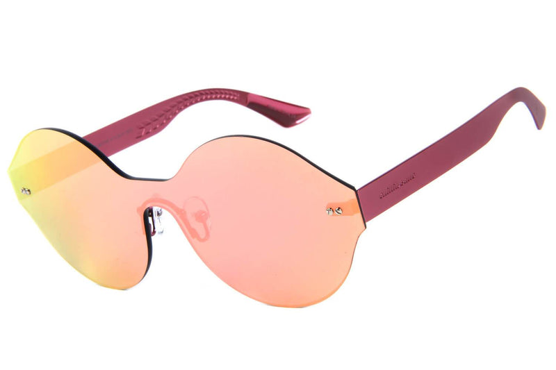 Flat Round Sunglasses Flash Pink
