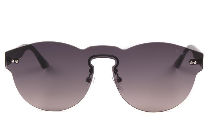 Mask Sunglasses Gray Stainless Steel