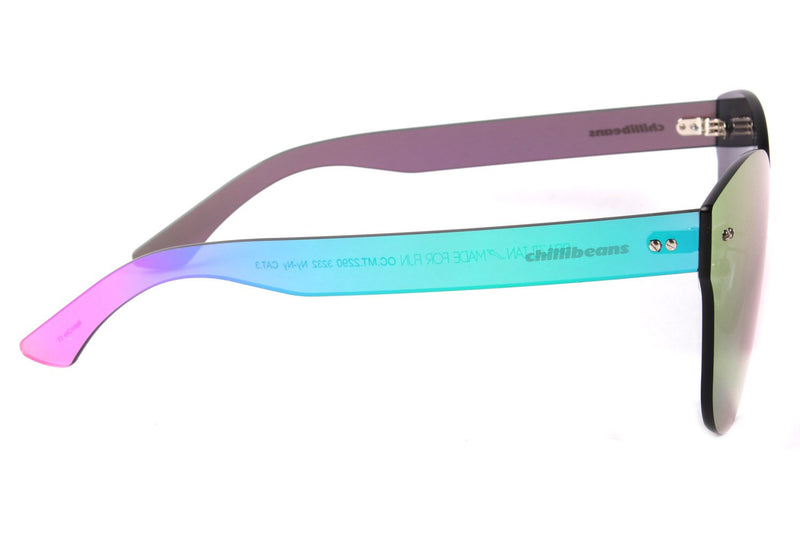 Mask Sunglasses Mirrored Nylon