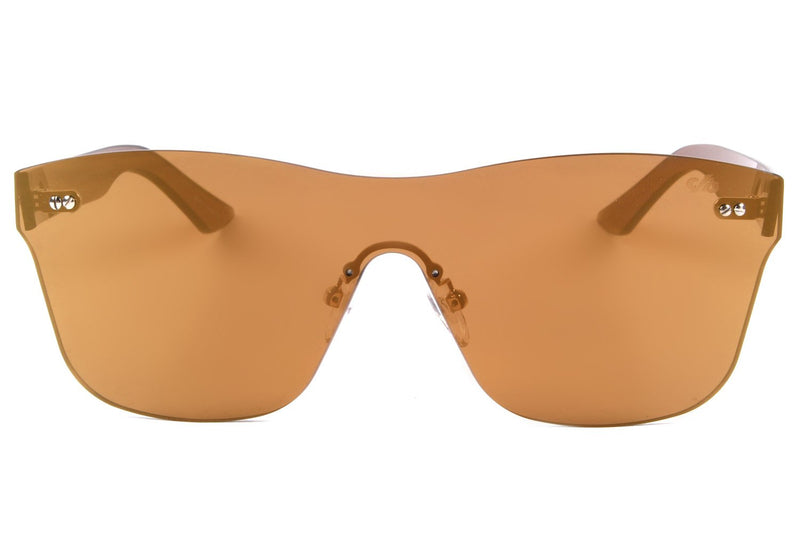 Mask Sunglasses Golden Nylon