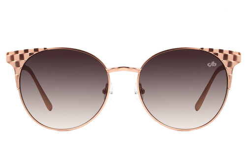 Kefera Round Rose Sunglasses by Chilli Beans