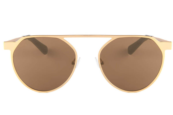 Round Sunglasses Golden Nylon Lenses - OC.MT.2355-2121