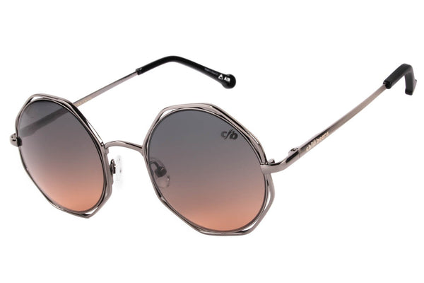 4 Elementos Round Sunglasses Gradient Stainless Steel