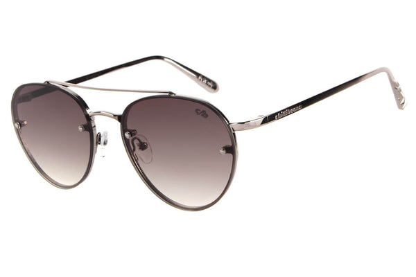 Rock in Rio Round Grey Sunglasses by Chilli Beans