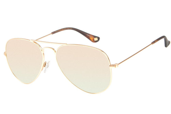 Aviator Sunglasses Golden Stainless Steel