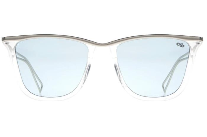 Square Sunglasses Light Blue Polycarbonate