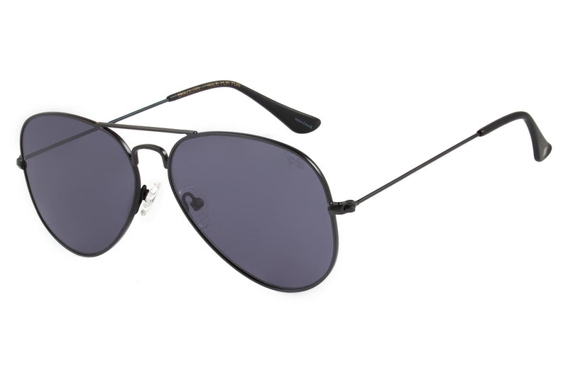 Aviator Sunglasses Black Stainless Steel