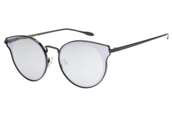 Round Sunglasses Grey Polycarbonate