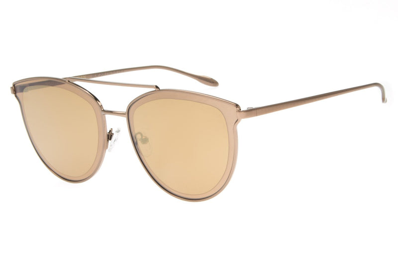 Hawaii Round Sunglasses Golden Stainless Steel