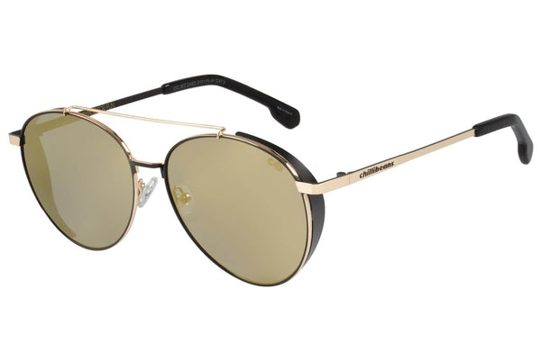 Round Sunglasses Golden Polycarbonate