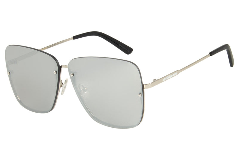 Square Sunglasses Silver Stainless Steel