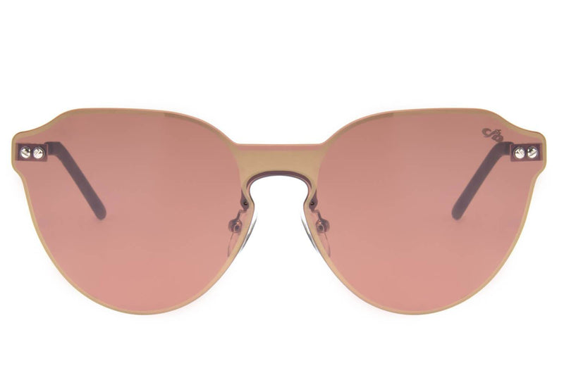 Double Lenses Round Sunglasses Brown Copper