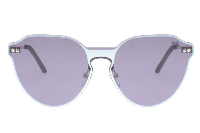 Double Lenses Round Sunglasses Gray Copper