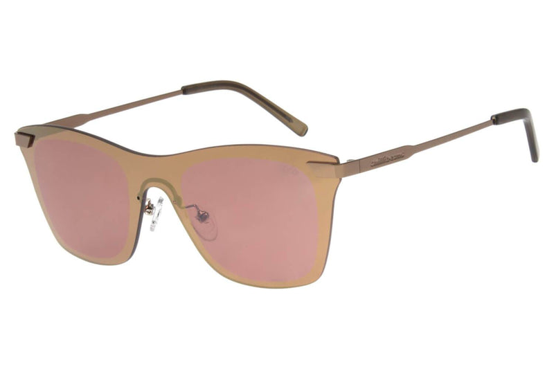 Double Lenses Bossa Nova Sunglasses Brown Stainless Steel