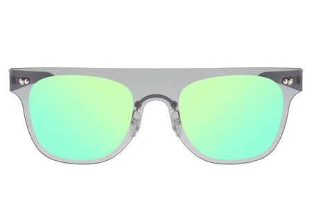 Square Sunglasses Mirrored Blue Polycarbonate
