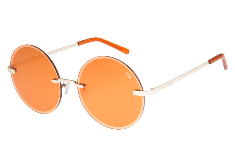 Double Lenses/Pabllo Vittar Round Sunglasses Orange Copper