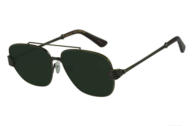 Skulls Executive Green Sunglasses by Chilli Beans