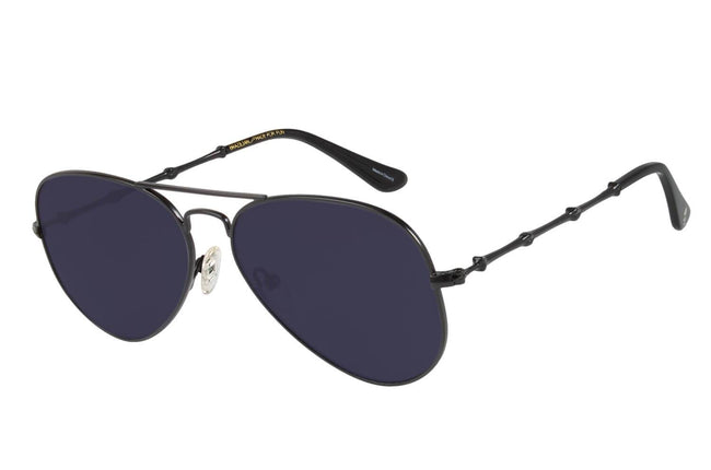 Skulls Aviator Black Sunglasses by Chilli Beans