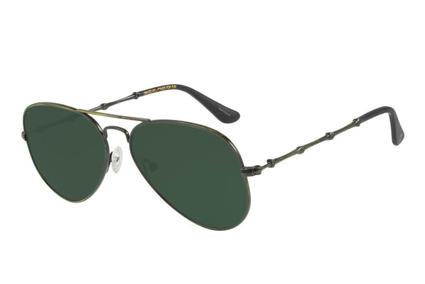 Aviator Sunglasses Green Polycarbonate