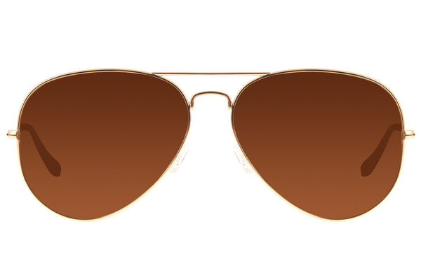 Aviator Sunglasses Brown Stainless Steel