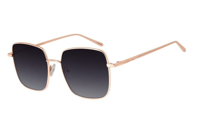 Gold Square Sunglasses Gradient Stainless Steel