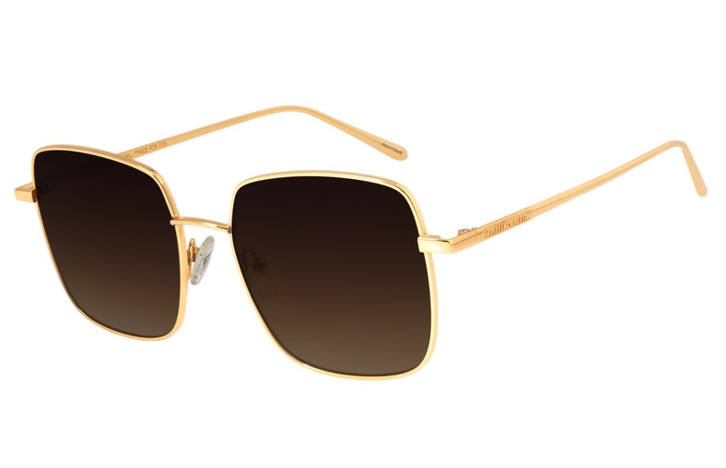 Gold Square Sunglasses Love Stainless Steel