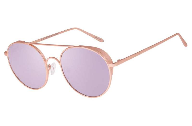 Gold Round Sunglasses Love Stainless Steel