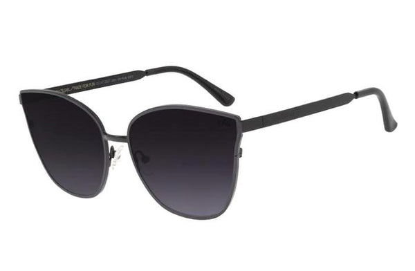 Cat Eye Sunglasses Black Stainless Steel