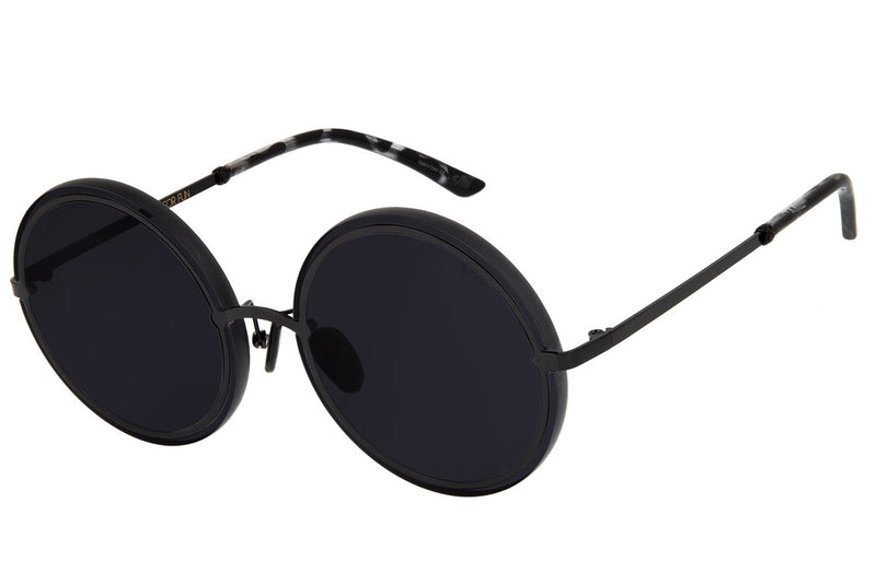 Blk Collection Round Sunglasses Black Stainless Steel