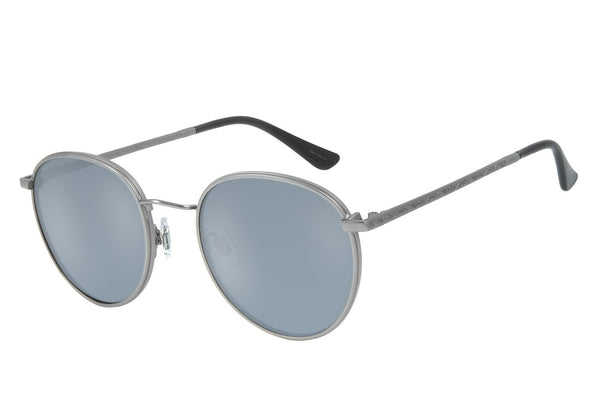 Blk Collection Round Sunglasses Flash Stainless Steel