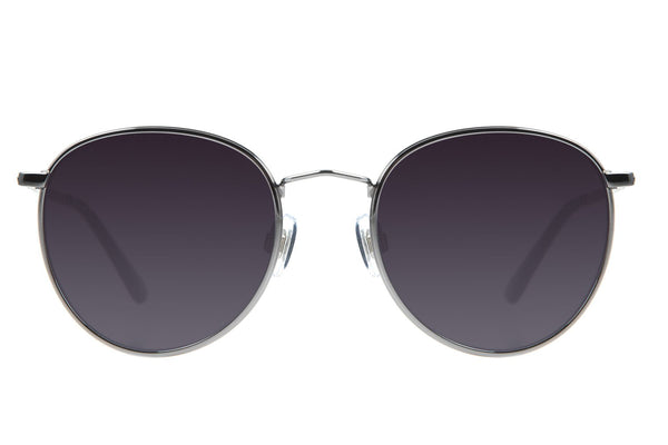 Blk Collection Round Sunglasses Gradient Stainless Steel