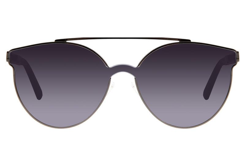 Reverse Round Sunglasses Gray Stainless Steel