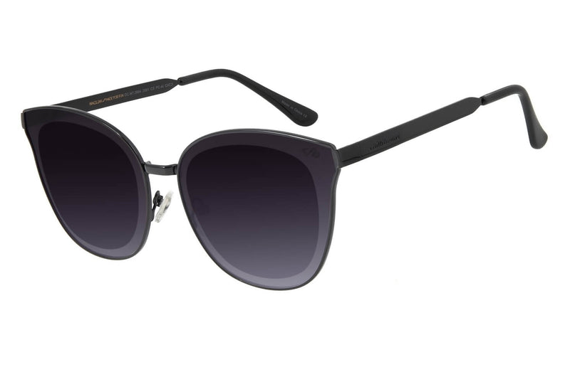 Square Sunglasses Black Stainless Steel