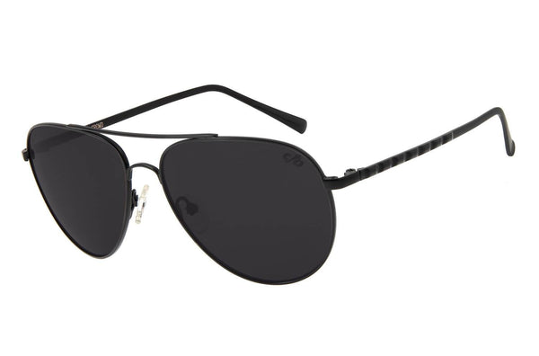 Rock In Rio 2019 Aviator Sunglasses Black Stainless Steel