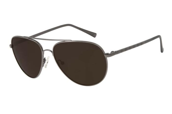 Rock In Rio 2019 Aviator Sunglasses Brown Stainless Steel