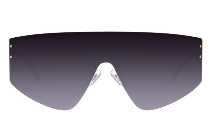 Round Sunglasses Gradient Stainless Steel