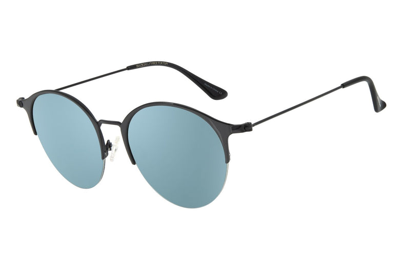 Round Sunglasses Flash Stainless Steel