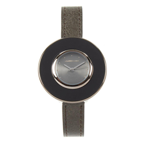 Round Watch Gray Brass