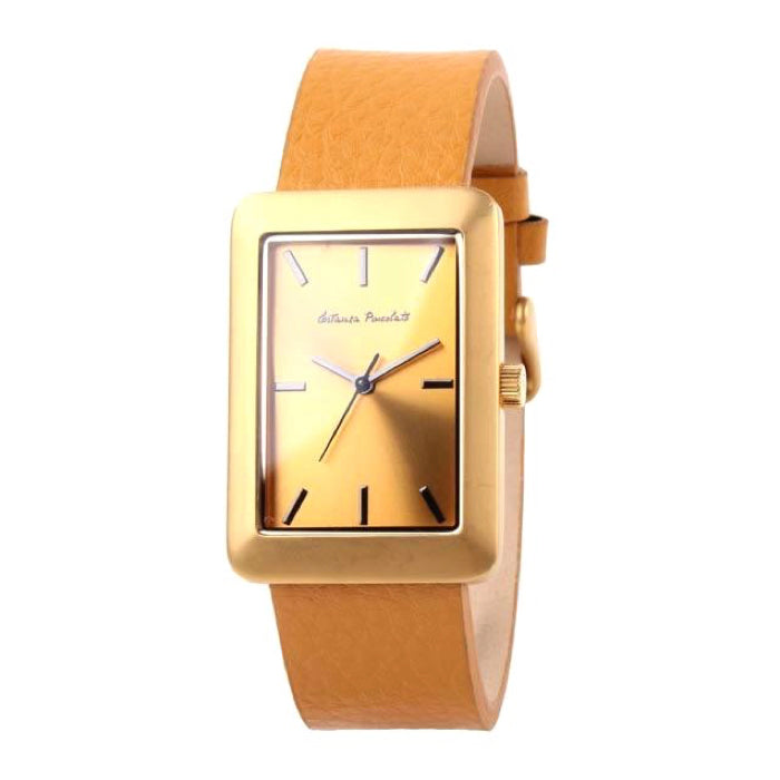 Chilli A Trois Costanza Square Watch Golden Metal