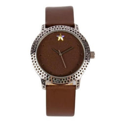 Punk X Glam Round Watch Silver Metal