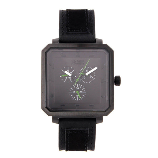Square Watch Black Metal