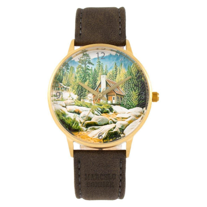 Vintage By Marcelo Sommer Round Watch Colorful Brass