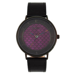 Round Watch Purple Brass