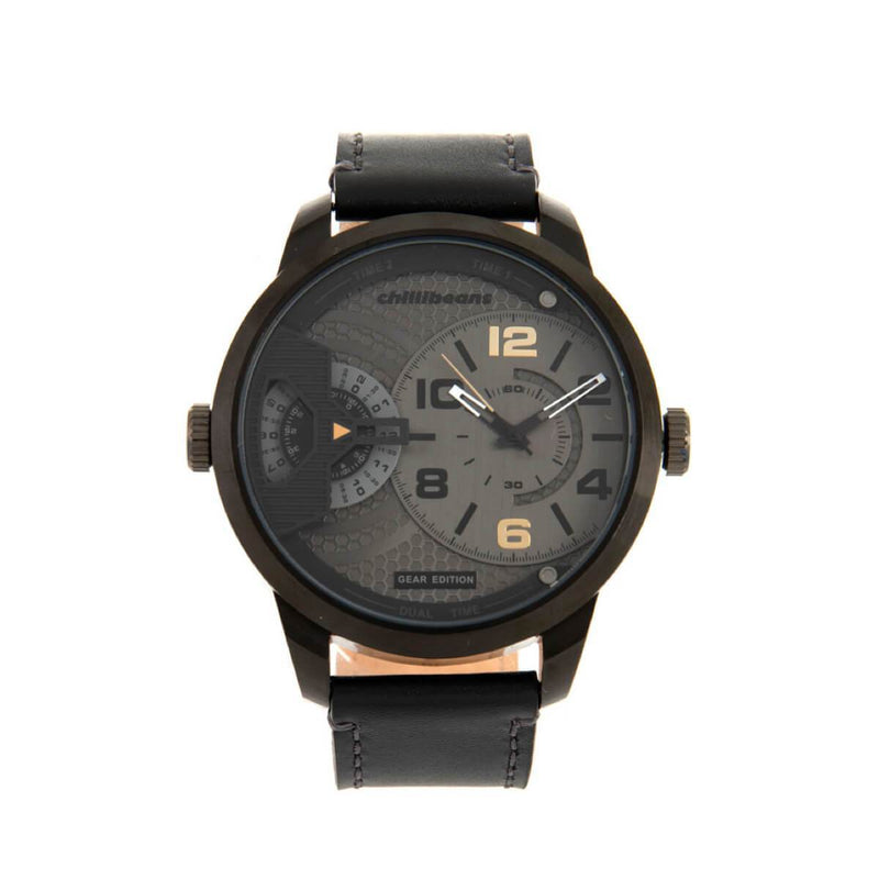 Round Watch Black Brass