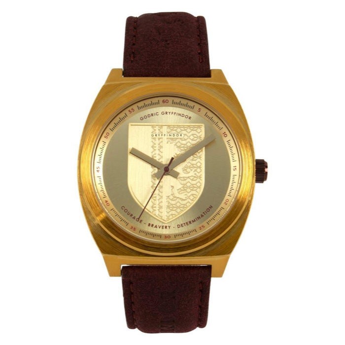 Harry Potter Round Watch Golden Brass