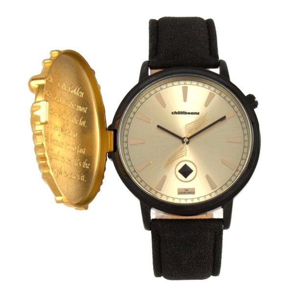 Harry Potter Round Watch Black Brass
