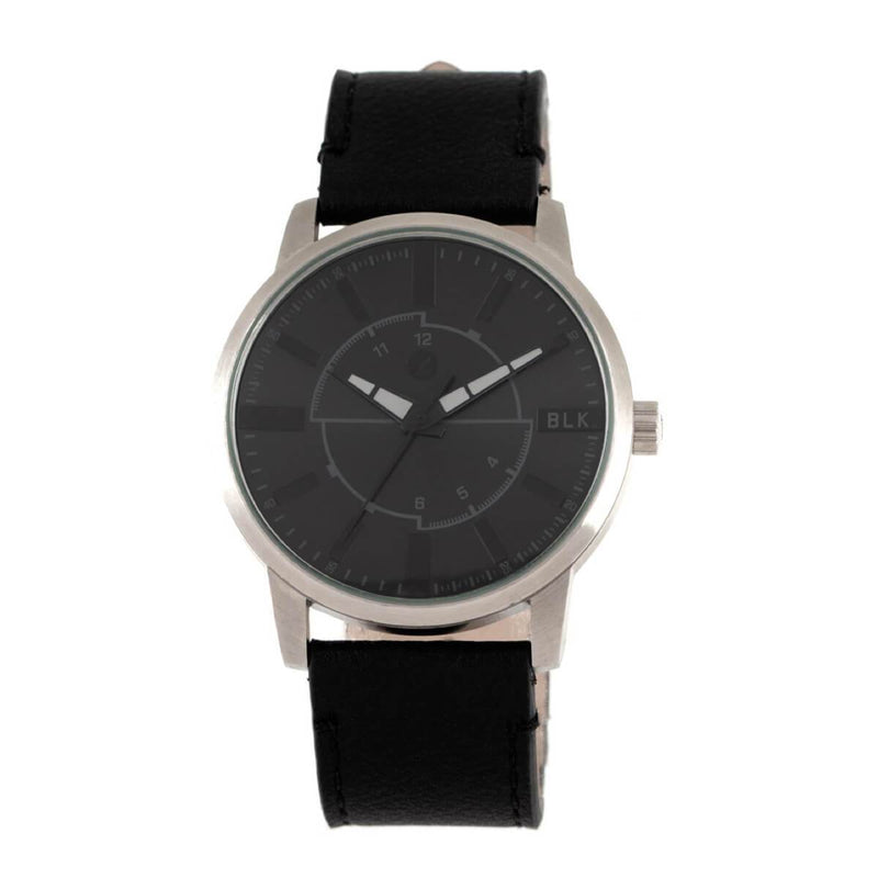 Blk Collection Round Watch Black Brass