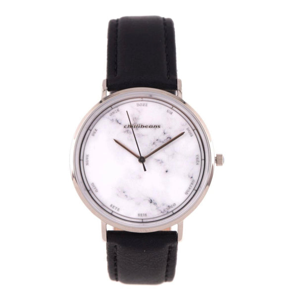 Round Watch White Brass