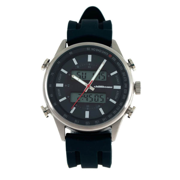 Round Watch Navy Blue Brass